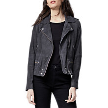 Buy Warehouse Suede Biker Jacket Online at johnlewis.com