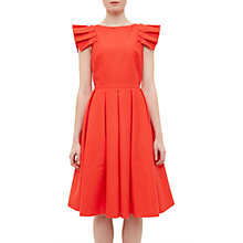 Buy Ted Baker Arieal Frill Detail Midi Dress, Light Orange Online at johnlewis.com