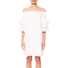 Buy Ted Baker Husher Frill Sleeve Shift Dress, White Online at johnlewis.com