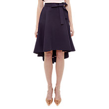 Buy Ted Baker Sicile Dropped Hem Cotton Blend Skirt, Navy Online at johnlewis.com