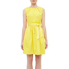 Buy Ted Baker Alyy Waist Tie Dress, Yellow Online at johnlewis.com