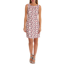 Buy Betty & Co. Printed Shift Dress, Pink/Silver Online at johnlewis.com