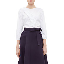 Buy Ted Baker Alasso Frill Detail Blouse, White Online at johnlewis.com