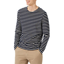 Buy Jigsaw Alexander Long Sleeve Breton Top, Navy Online at johnlewis.com