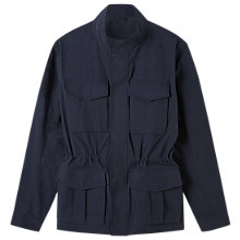 Buy Jigsaw Italian Shower Resistant Field Jacket, Navy Online at johnlewis.com