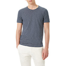 Buy Jigsaw Short Sleeve Stripe T-Shirt, Navy Online at johnlewis.com