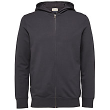 Buy Selected Homme Shnsam Zip Hoodie, Moonless Night Online at johnlewis.com