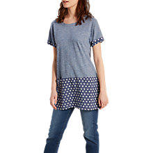 Buy White Stuff Alana Jersey Tunic, Blue Online at johnlewis.com