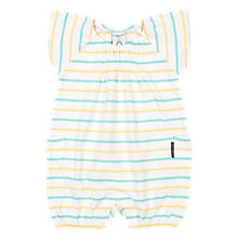 Buy Polarn O. Pyret Baby Striped Romper, Multi Online at johnlewis.com