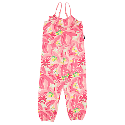 Polarn O. Pyret Girls Flamingo Playsuit, Pink