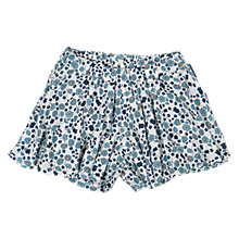 Buy Polarn O. Pyret Girls' Floral Shorts, Blue Online at johnlewis.com