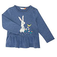 Buy John Lewis Baby Bunny Peplum Top, Blue Online at johnlewis.com