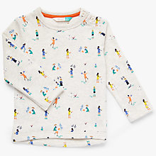 Buy John Lewis Baby Garden All-Over Print Top, Cream Online at johnlewis.com
