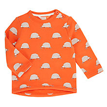 Buy John Lewis Baby Hedgehog Long Sleeve Jumper, Orange Online at johnlewis.com