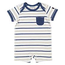 Buy Polarn O. Pyret Baby Striped Romper, Blue/Multi Online at johnlewis.com