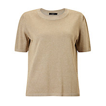 Buy Weekend MaxMara Proteo Metallic Jumper, Beige Online at johnlewis.com
