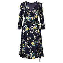 Buy Weekend MaxMara Dacia Floral Print Jersey Dress, Ultramarine Online at johnlewis.com