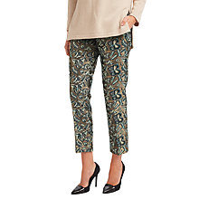 Buy Weekend MaxMara Landa Butterfly Trousers, Green Online at johnlewis.com