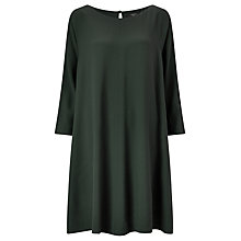 Buy Weekend MaxMara Swing Shift Dress, Dark Green Online at johnlewis.com