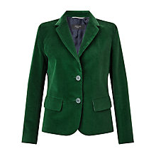 Buy Weekend MaxMara Marus Needlecord Velvet Jacket, Dark Green Online at johnlewis.com