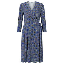 Buy Weekend MaxMara Dacia Check Print Jersey Dress, Ultramarine Online at johnlewis.com