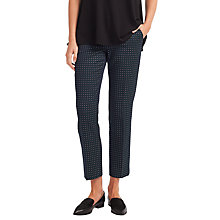 Buy Weekend MaxMara Mincio Micro Print Trousers, Ultramarine Online at johnlewis.com