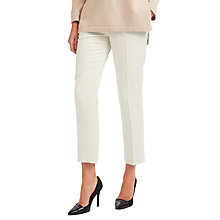 Buy Weekend MaxMara Cartone Cropped Tailored Trousers, Sand Online at johnlewis.com
