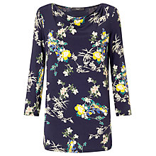 Buy Weekend MaxMara Ornato Floral Print Jersey Top, Ultramarine Online at johnlewis.com