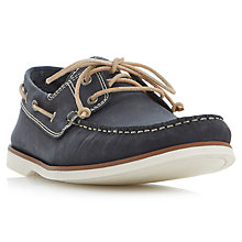 Buy Bertie Battleship Nubuck Leather Boat Shoes, Navy Online at johnlewis.com