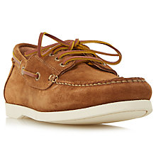 Buy Dune Boater Suede Classic Boat Shoes, Tan Online at johnlewis.com