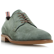 Buy Bertie Pugg Round-Toe Suede Derby Shoes, Khaki Online at johnlewis.com