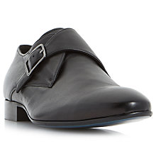 Buy Bertie Pounce Single-Buckle Leather Monk Shoes, Black Online at johnlewis.com