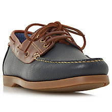 Buy Dune Boater Leather Classic Boat Shoes, Navy Online at johnlewis.com