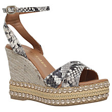 Buy Kurt Geiger Amelia Wedge Heel Sandals, Beige Comb Online at johnlewis.com