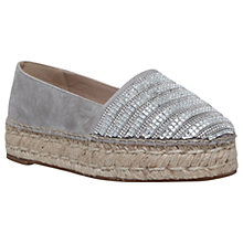 Buy KG by Kurt Geiger Misha Flatform Espadrilles, Grey Online at johnlewis.com