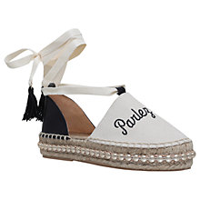 Buy Kurt Geiger Pierre Two Part Espadrilles Online at johnlewis.com