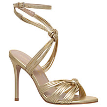 Buy Kurt Geiger Eliza Multi Strap Stiletto Sandals, Gold Online at johnlewis.com
