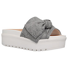 Buy KG by Kurt Geiger Noddy Flatform Sandals, Grey Online at johnlewis.com