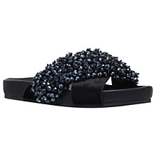 Buy KG by Kurt Geiger Magnus Cross Strap Sandals, Black Online at johnlewis.com