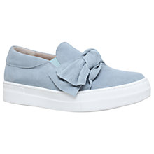 Buy KG by Kurt Geiger Little Bow Slip On Trainers, Pale Blue Online at johnlewis.com