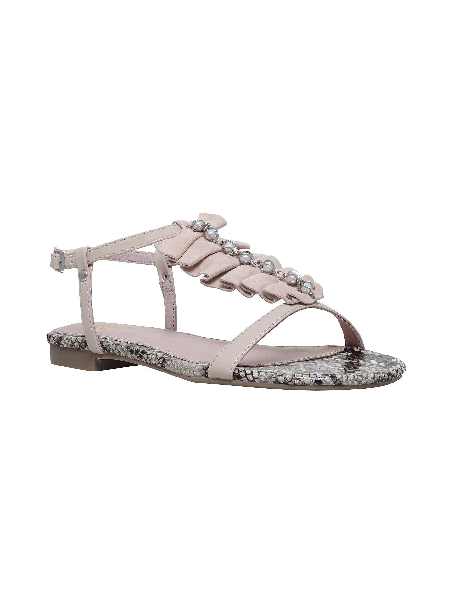 KG Kurt Geiger Womens Match Metallic Sandals - Nude