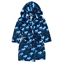 Buy Hatley Children's Moose Fleece Robe, Blue Online at johnlewis.com