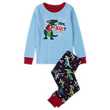 Buy Hatley Children's T-Rex Pyjamas, Blue Online at johnlewis.com