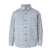 Buy John Lewis Heirloom Collection Boys' Bird Print Shirt, White/Blue Online at johnlewis.com