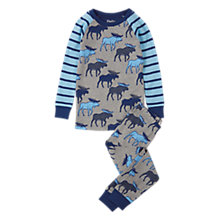 Buy Hatley Children's Moose Raglan Pyjamas, Grey Online at johnlewis.com