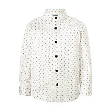Buy John Lewis Heirloom Collection Boys' Geometric Print Shirt, White Online at johnlewis.com