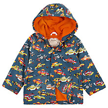 Buy Hatley Boys' Demolition Cars Coat, Grey Online at johnlewis.com
