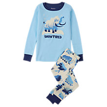Buy Hatley Children's Snow Tired Pyjamas, Navy Online at johnlewis.com