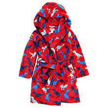 Buy Hatley Children's Dinosaur Fleece Robe, Red Online at johnlewis.com