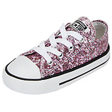 Buy Converse Children's Chuck Taylor All Star Lace Up Shoes, Pink Glitter Online at johnlewis.com